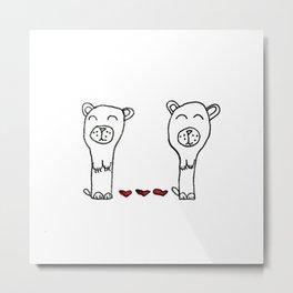 Valentine bears by 10 yr old Valentina Metal Print