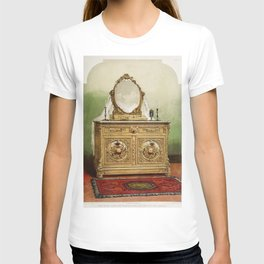 Bed room furniture in marqueterie from the Industrial arts of the Nineteenth Century (1851-1853) by T-shirt