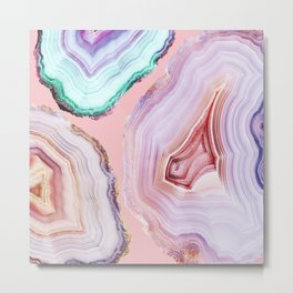 Mineral Agates #Glam collection Metal Print