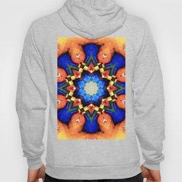 Orange Mosaic Abstract Hoody