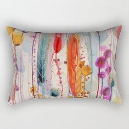 champs fleuris Rectangular Pillow