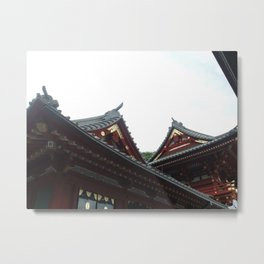 Temple Tops Metal Print