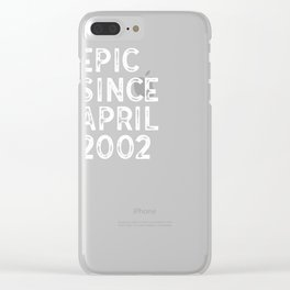16th Birthday product 16 Year Old April 2002 Party Gift Clear iPhone Case
