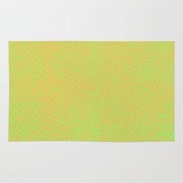 Lime Green Orange Elephant Skin Rug