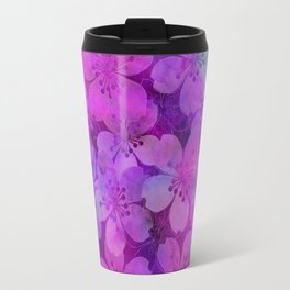 Fancy Floral watercolor pattern pink Travel Mug