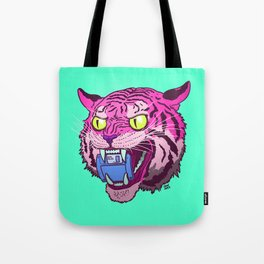 Floppy Disk Tiger Tote Bag