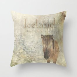 Iceland, forged by fire and ice Throw Pillow
