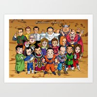 dbz Art Prints featuring DBZ Mexican Voice Actors by Neokoi