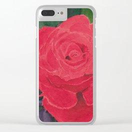 Rose Clear iPhone Case