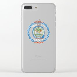 Belize Its In My DNA Clear iPhone Case