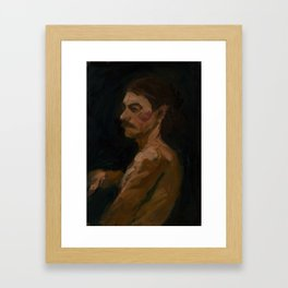 Figure Study, Man with Moustache Framed Art Print