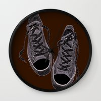 converse Wall Clocks featuring Converse by maeveelectro