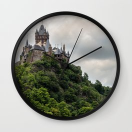 Cochem Germany Tower Rheinland-Pfalz Thundercloud Cliff Castles Cities towers storm cloud Rock Crag castle Wall Clock
