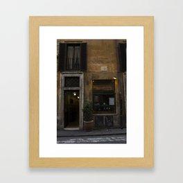 Little Shop in Rome Framed Art Print