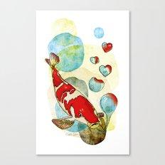 Koi Fish In Love Canvas Print
