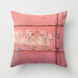 Weathered Red Siding Throw Pillow