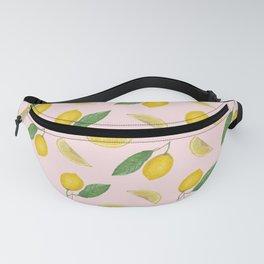 Lemon pattern_pink background Fanny Pack