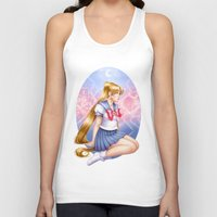 sailormoon Tank Tops featuring Sailor moon by Roots-Love