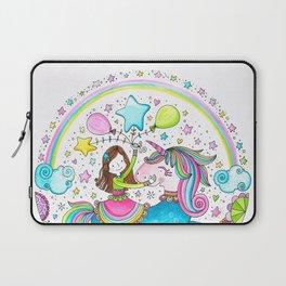 Unicorn Girl Laptop Sleeve
