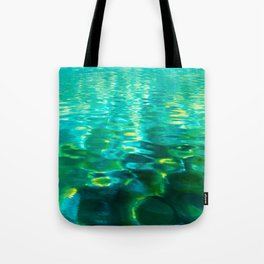 Blue Green Water Tote Bag