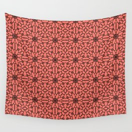 Peach Echo Lace Wall Tapestry