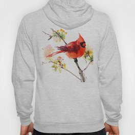 Cardinal Bird in Spring Hoody