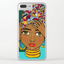 Ankara turban Clear iPhone Case