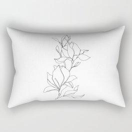 Botanical illustration line drawing - Magnolia Rechteckiges Kissen