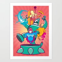 heroes Art Prints featuring Heroes by 2BROS