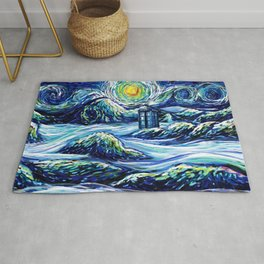 Tardis Lost In The Middle Wave Rug