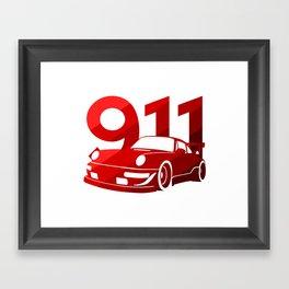 Porsche 911 - classic red - Framed Art Print