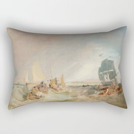 "J.M.W. Turner ""Shipping at the Mouth of the Thames"" Rectangular Pillow"