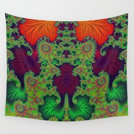 Psychedelic Centrepiece - Mirrored Fractal Art Wall Tapestry