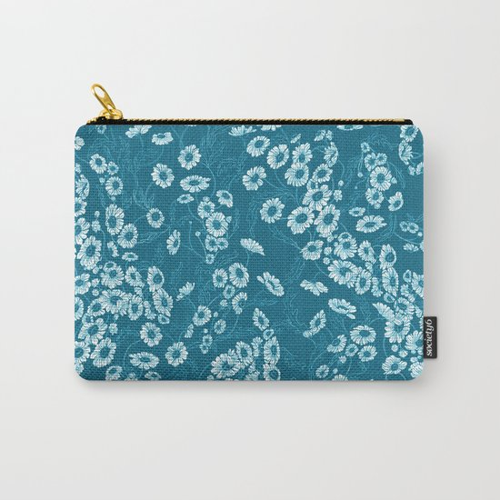 Daisy Dream Blue Carry-All Pouch