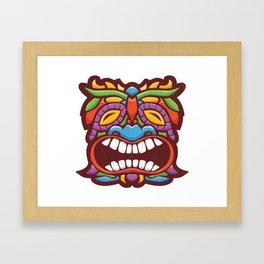 Wailing Tiki Framed Art Print