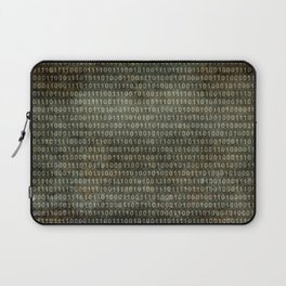 Binary Code with grungy textures Laptop Sleeve