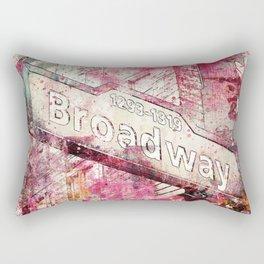 Broadway sign New York City Rectangular Pillow