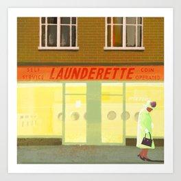 launderette Art Print
