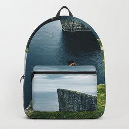 man at the faroe islands Backpack