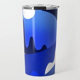 Terrazzo landscape blue night Travel Mug