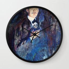 Edvard Munch - Self-Portrait with Burning Cigarette - Digital Remastered Edition Wall Clock