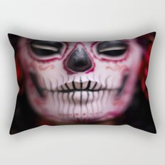 Midnight Harvest Muertita Detail Rectangular Pillow