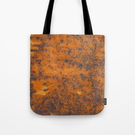 Vintage metall rust texture - Orange / red pattern Tote Bag