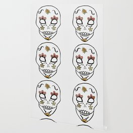 Sugar Skull Watercolor Wallpaper