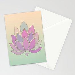 Lotus Flower Pastel Meditation Yoga Symbol Stationery Cards