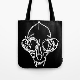 Madam Salami Cat Skull Tote Bag