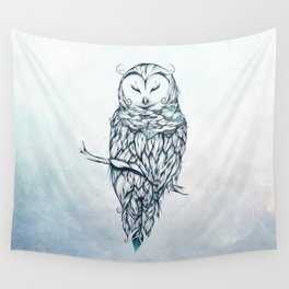 Snow Owl Wall Tapestry