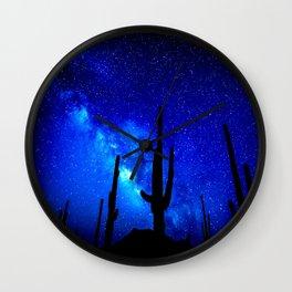The Milky Way Blue Wall Clock