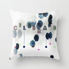 Celebrate Stamp Throw Pillow