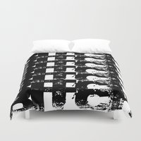 bitch Duvet Covers featuring BITCH by Spotted Heart